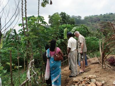 Graham In A Home Garden In Sri Lanka