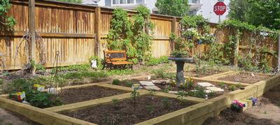 Tiggy's Garden... 5 Sections of Vegetables and Herbs.